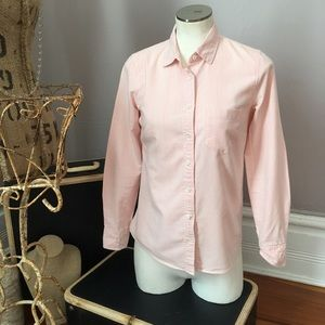 J. Crew preppy pink pin striped top Size 0 EUC